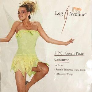 Green Dress Fairy Halloween Costume